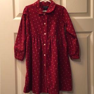 Ralph Lauren Corduroy Button-up Collar Dress